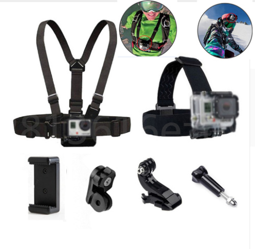 Head Strap Mount Chest Belt For GoPro Hero 7 6 5 4 Xiaomi Yi 4K Sony Action Cam Accessories Harness Belt For Mobile Phone Holder
