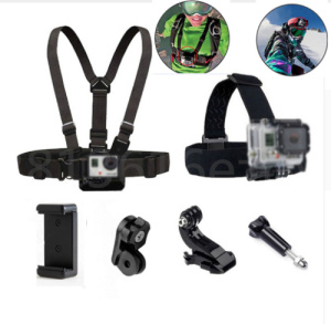 Head Strap Mount Chest Belt For GoPro Hero 7 6 5 4 Xiaomi Yi 4K Sony Action Cam Accessories Harness Belt For Mobile Phone Holder(China)