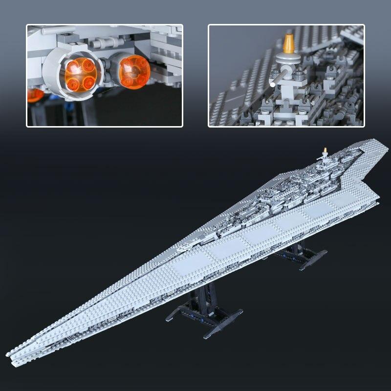05028 3208pcs Super Star Destroyer Wars Set Genuine Model Building Blocks Brick for Children Compatible Legoe 10221 Lepine lepine model