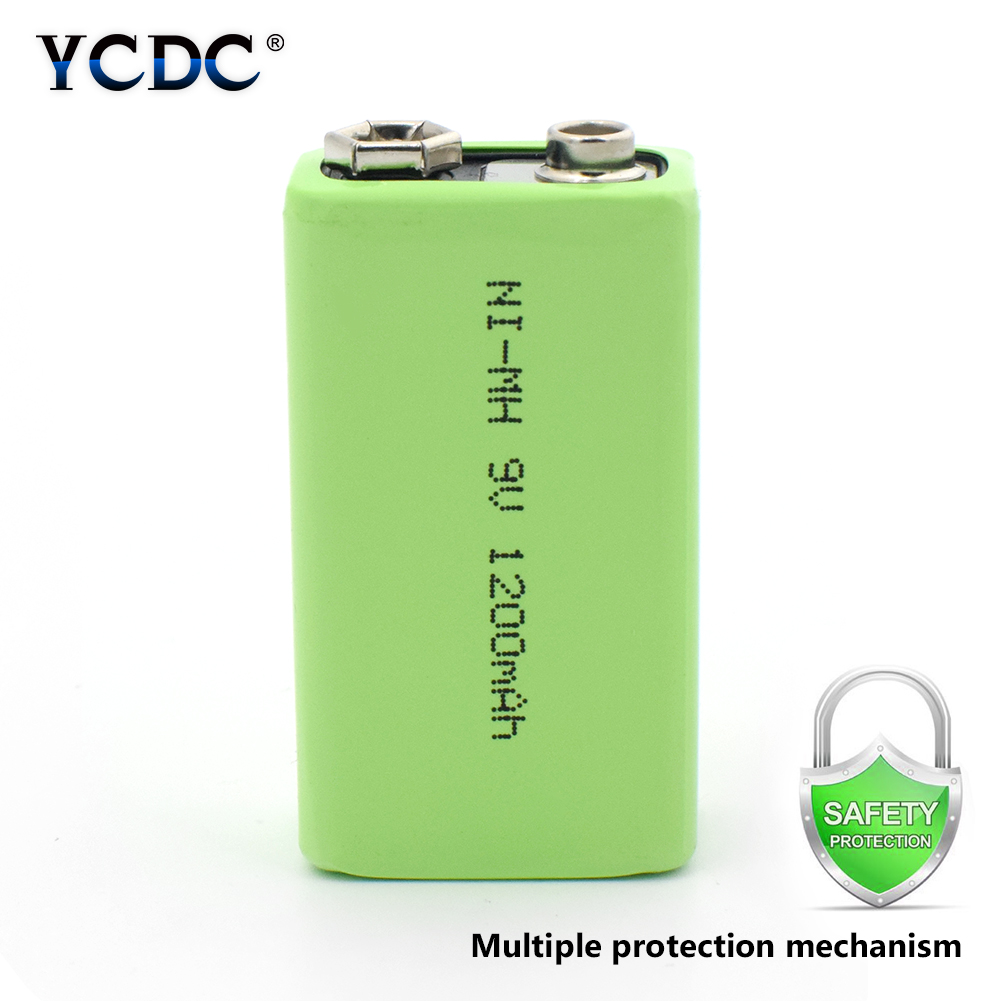 1/2/4pcs Rechargeable 9 V Volt 1200mah Ni-MH Battery 4.8x2.6x1.7cm Nimh Batteries With Pcb Protection For Smoke Alarm Car Toys