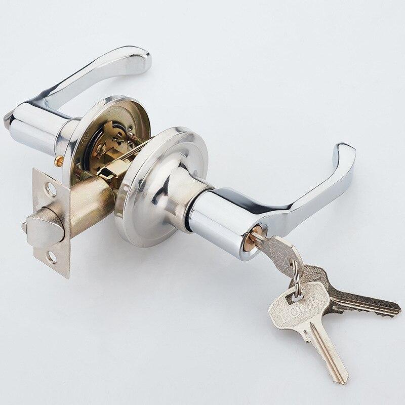 Office Hardware Lock Indoor Kitchen Door Lock Bathroom Three Handle Handle Lock ZP7101617
