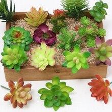 1 шт. имитация суккуленты поддельные настольные растения искусственные бонсай DIY инновационные поддельные пластиковые Miniascape украшения дома