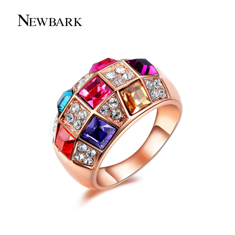 Newbark vintage style blue and multicolor fashion women Vintage style fashion rings
