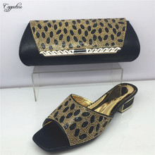 Capputine Italian Style Shoes With Matching Bags Set Nigerian Low Heels Shoes And Bag To Match