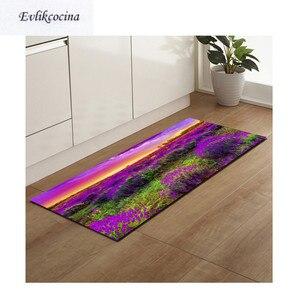Image 1 - Gratis Verzending Paars Lavendel Anti Slip Badmat Deur Vloer Tapetes Para Casa Sala Tapijt Voor Toliet Antislip Alfombra Bano