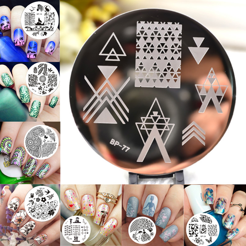 1pc 31 Designs Available Born Pretty Stamping Plate Lace Starfish Shell Negative Space Leaves Flowers Animals Nail Template