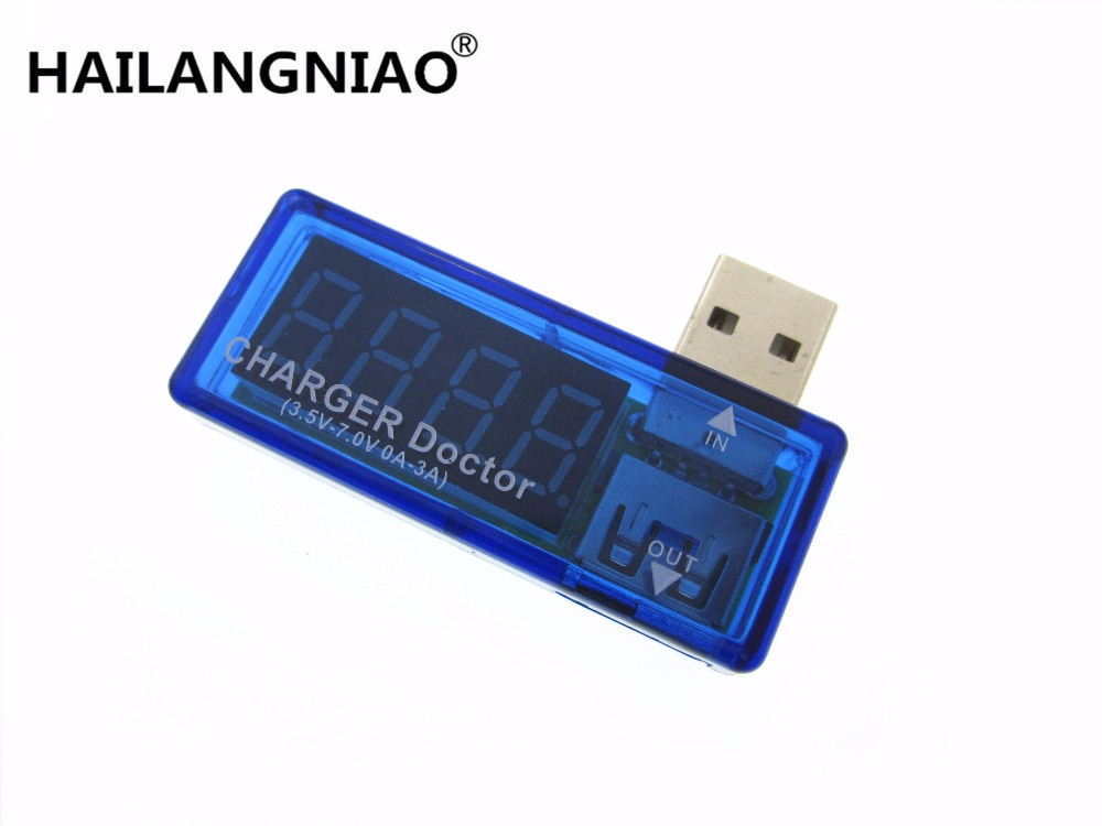HAILANGNIAO 10pcs Digital USB Mobile Power charging current voltage Tester Meter Mini USB charger doctor voltmeter ammeter 3 in 1 lcd mobile battery tester power detector voltage current meter usb charger doctor