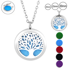 With Chain as Gift! Fashion perfume locket 30mm magnetic 316L stainless steel aromatherapy diffuser for christmas