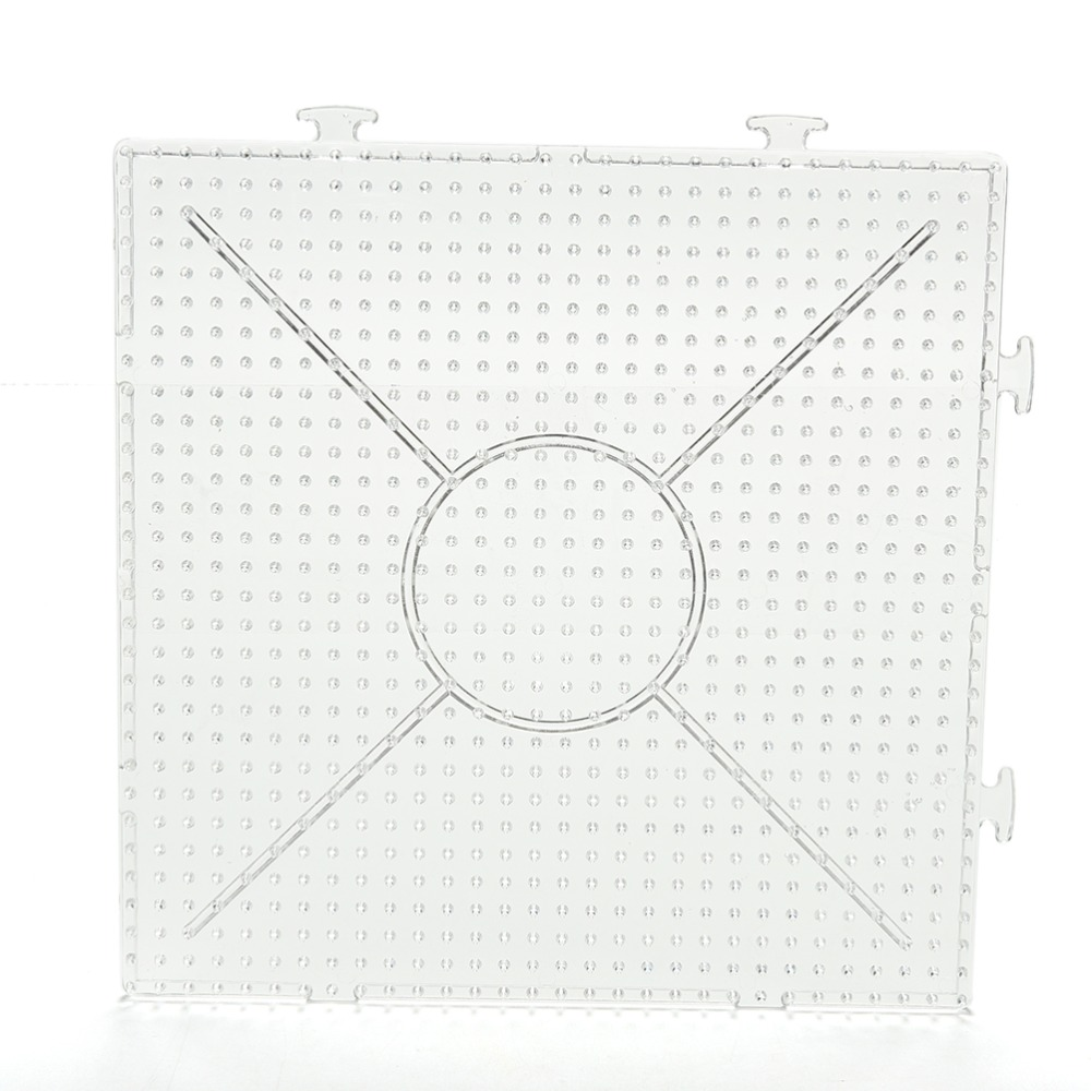 Allure Maek 5mm 4 Pcs Large Clear Square Fuse Beads Pegboards /& 8 Pcs 5mm Other Shapes Small Plastic Template Beads Boards with 6 Pcs Beads Tweezers for Kids Craft Beads