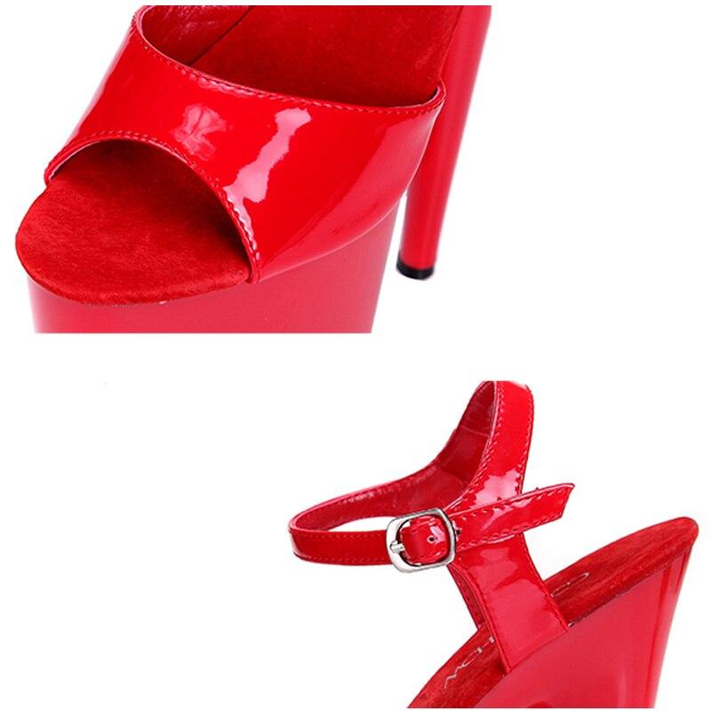 Super En forme Peep Plus Haute Chaussures Cuir 20 43 Femme Gladiateur Toe Pu Black Plate La Joyhopy Sandales Talons Cm 34 Femmes red Taille Talon Stade Parti CngxP