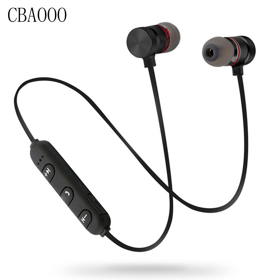 Bass Bluetooth Earphone Wireless Headphones Earphones Magnetic Stereo Bluetooth Headset Wireless earbuds With Mic for phone 5 pcs 3 flat pin plug black ac power socket adapter replacement 250v 10a