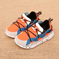 Niños malla sport shoes shoes 2016 moda para niños y niñas de primavera niños sneakers slip on blue orange rosa