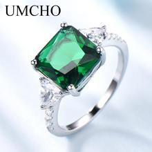 Женское кольцо из серебра 925 пробы с изумрудом
