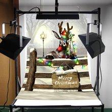 Fotografie Kulissen Weihnachten Ländlichen Wald Weihnachten Schwere Schnee Holz Zaun Hintergrund