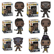 Funko POP Marvel Movie Black Panther -ERIK -SHURIi -NAKIA -Action Figure Toys Model Anime X-Men toys for chlidren Gift