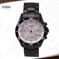 2016 New Fashion Water Resist Mens Black Stainless Steel watch Date Sports Military Quartz Curren 8039 luxury brand wristWatch