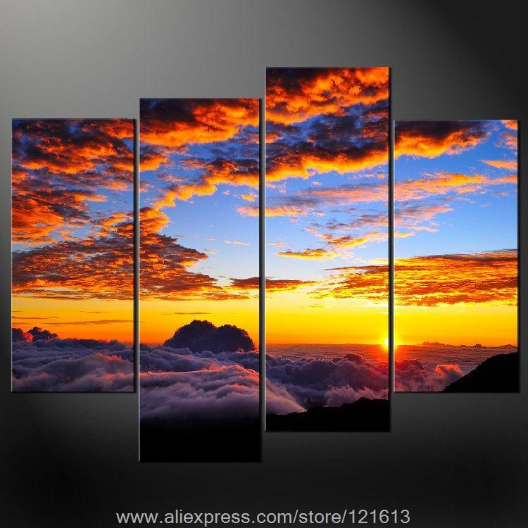 Buy clouds premium wall art cascade for Selling oil paintings online