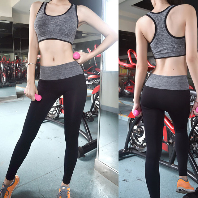 6325c8011b737 Newest Modal Tight Tall Waist Trousers Women Yoga Elastic Workout Clothes  Running Pants