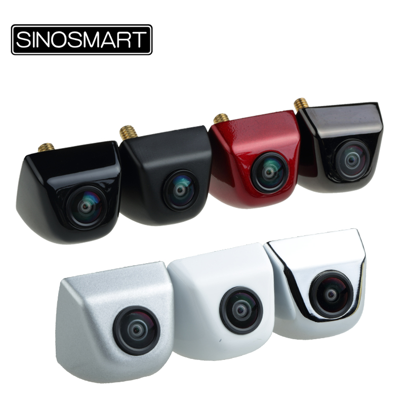 SINOSMART In Stock Wide View Angle Universal Parking Reverse Backup Camera for Car DC 5V 28V Input with 7 Colors Freely Optional-in Vehicle Camera from Automobiles & Motorcycles
