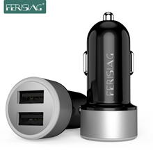 FERISING Mini Car Charger Adapter Universal 4.8A Dual Port car-charger for iPhone X XR XS max for Samsung Galaxy S6/Xiaomi Mi4 5