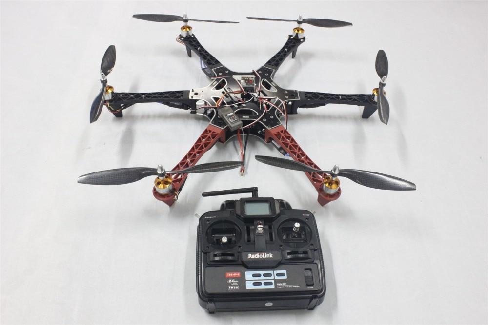 F550 Drone FlameWheel Kit With QQ HY ESC Motor Carbon Fiber Propellers + RadioLink 6CH TX RX F05114-T 250 mini 250 carbon fiber aircraft frame rtf kit with radiolink t6ehp e tx