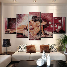 Hot Hand Painted oil paintings on canvas couple painting nude lover home decoration abstract figure wall pictures for bedroom