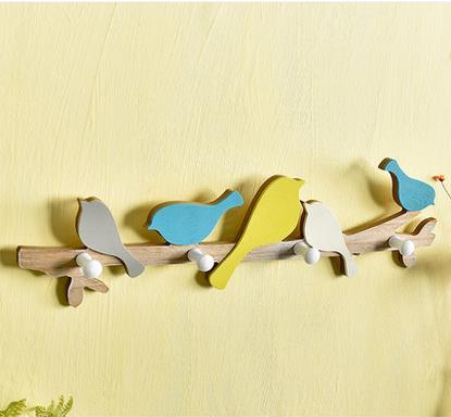 Vivid bird style American style cocktail frame key hook creative ...
