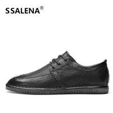 Men Lace Up Casual Shoes Male Handmade Sewing Flat Formal Business Shoes Men Breathable Anti-slip Footwear AA60678