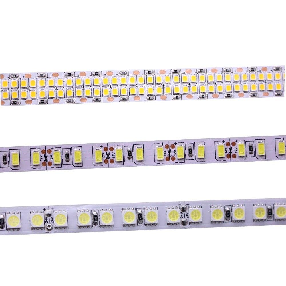 DC12V 24V 5M 300/600/1200/2400LEDs/m 2835 5630 5050 60/120/240/480LEDs/m RGB LED Strip White  RGB LED Light Strips Flexible Tape