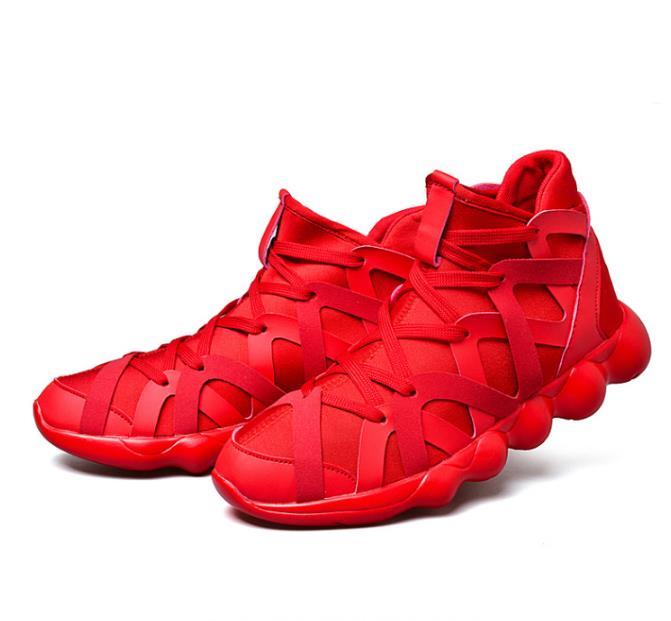 Alta Por Los Hombre Deporte 2018 Al Hombres Zapatos Amantes Puerta Negro Costura rojo Amante Casuales Calidad blanco De Mayor Estilo Zapatillas qwq4IPfOg