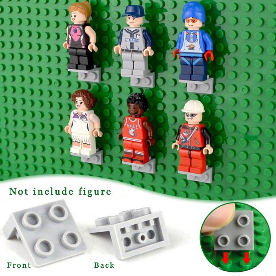 Lego 4 Blue bracket 1x2-2x2 NEW