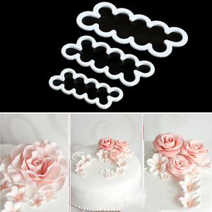 3Pcs/Set Flower Cake Molds Biscuit Cookie Fondant Cutter Cake Decorating Tools Baking Biscuit Cutter Form Stencil Confectionery