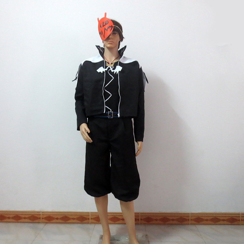 Kingdom Hearts Sora Halloween Style Include Mask Christmas Party Uniform Outfit Cosplay Costume Customize Any Size