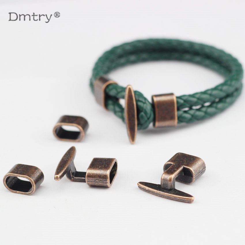 Dmtry DIY Jewelry Accessories For Making Cuff Bracelets & Bangles Findings Hook Clasp For Flat Leather Charms Parts  C0002