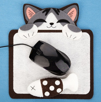 Cartoon cat mouse pad Fabric Felt kit Non-woven cloth Craft DIY Sewing set Felt Handwork Material DIY needlework supplies