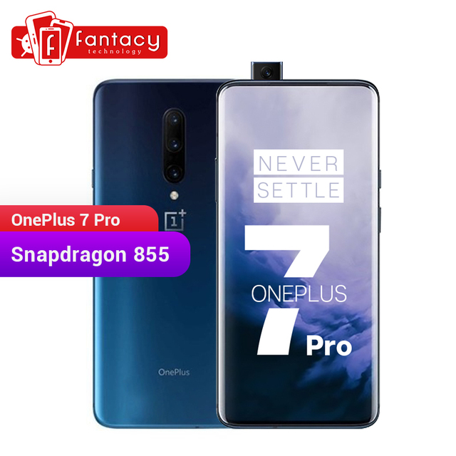 Global ROM Oneplus 7 Pro 8GB RAM 256GB ROM Smartphone Snapdragon 855 6.67 Inch 90Hz AMOLED Display Fingerprint 48MP Cameras NFC