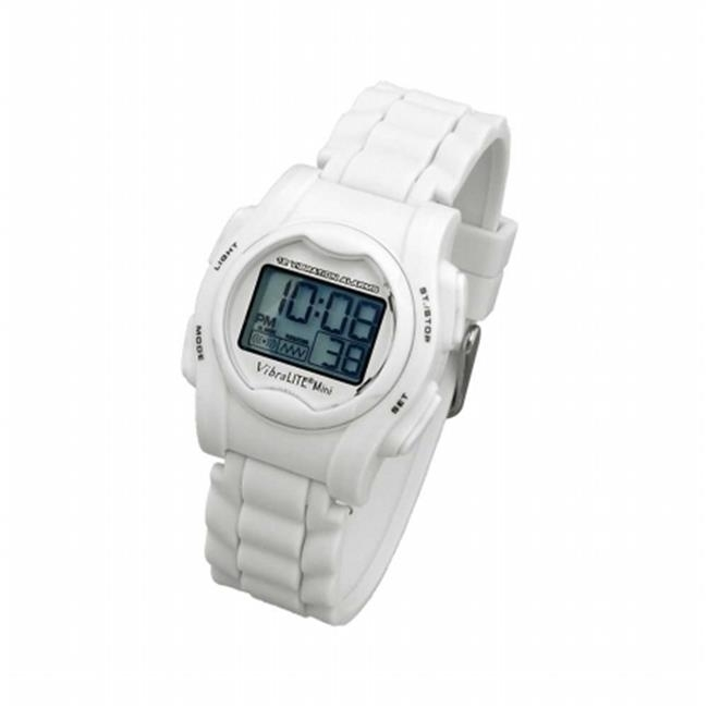 Cicso Independent GAD-VMSWH Vibrating Watch with Silicone Band- White gad elmaleh london