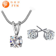 FaCZ Necklace Earring Jewelry Set