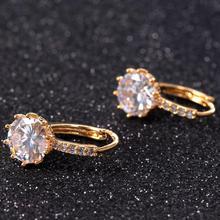 Bling World Women Simple Fashion Synthetic Stones  Ear  Women Jewelry  Earrings  Sep5
