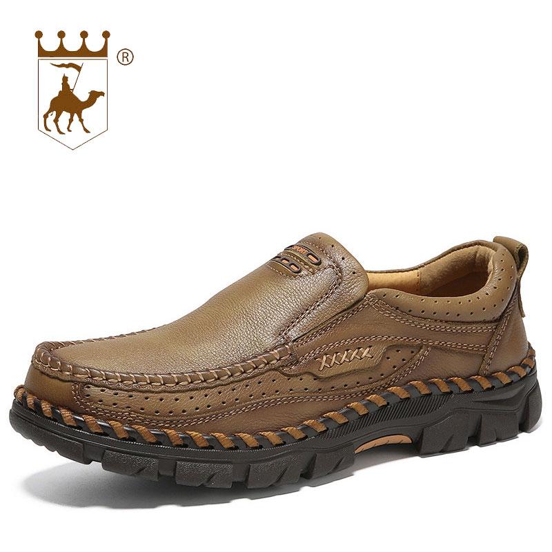 khaki Tamanho Casuais 38 Artesanal 44 Sapatos Calçados Slip slip De Backcamel Dos resistente Brown on Desgaste Homens Grosso Ar sola Couro Anti 2018 Camurça Ao Livre 4F1fBWq