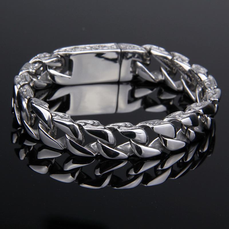 Мужской браслет Будды 316l из нержавеющей стали серебряный цвет