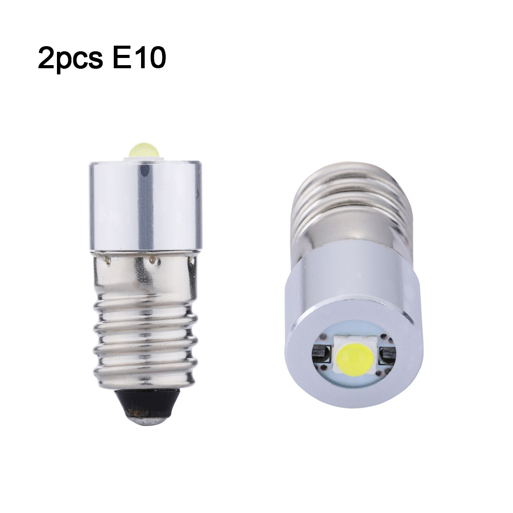 2pcs E10 LED Upgrade Bulb 3V 4.5V 6V 18v  Emergency Light Bulbs Led Indicator Light E10 Led Signal Lamp, Led Warning Light Bulb