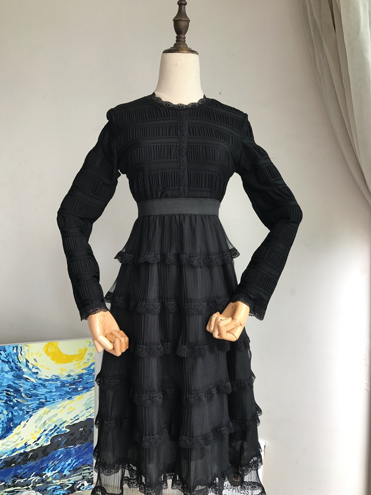 Bal Casual 2018 Y Robe 914 Automne Layered De Mode Streetwear Vintage Femmes zLSjUMqVpG