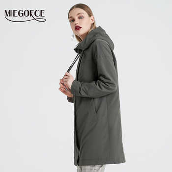 MIEGOFCE 2019 Spring and Autumn Long Women\'s Trench Coat Stand Collar Hooded Female Slim Synthetic Women\'s Coat New Design - Category 🛒 Women\'s Clothing