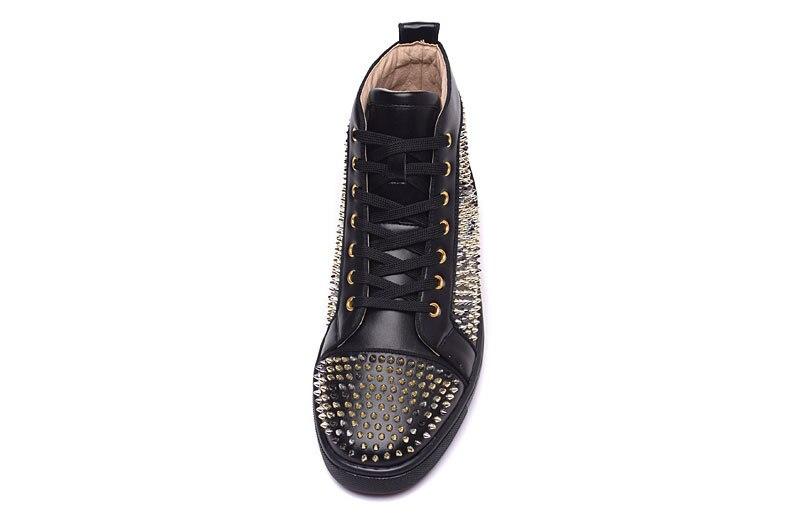 2017 moda unisex stil nou negru piele casual noroi de aur pantofi - Pantofi bărbați - Fotografie 5