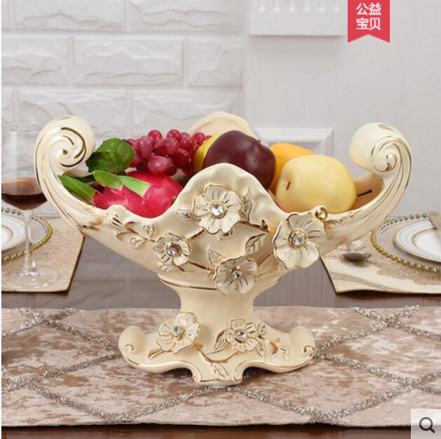 European luxury fruit bowl ceramic large capacity fruit bowl in Bottles Jars Boxes from Home Garden