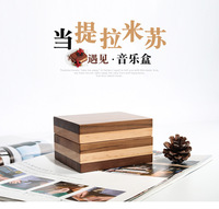 2018 Carrossel Music Hand Free Shipping 30 Tone Custom Box, Tiramisu Wooden Lettering, Eight Box Gift, Birthday Send A Friend.
