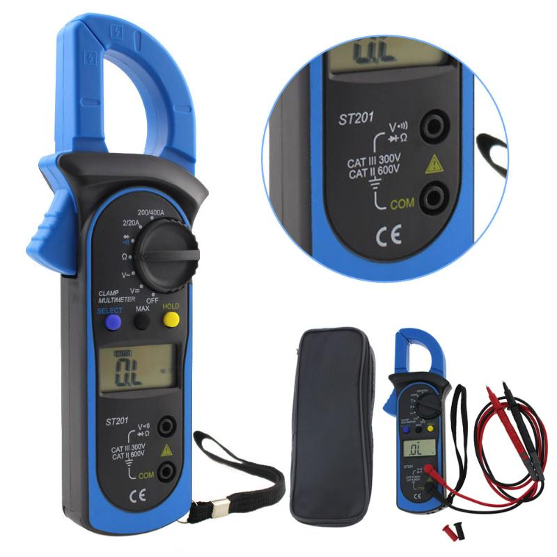 Digital Clamp Meter AC/DC Current True RMS Auto-Ranging Multimeter Live Check NCV Temp Frequency Capacitor Tester free shippin 5pcs lot new high quality blue mini digital clamp meter digital multimeter compare ms2008b for temp frequency meter