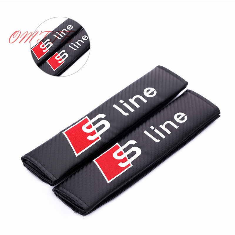 Car Stickers Safety belt Case For Audi S Line SLine A1 A3 A4 B6 B8 B5 B7 A5 A6 C5 C6 S3 S4 S5 S6 S7 Auto Emblems Car Styling kid s triangle shaped safety belt fastener for car blue