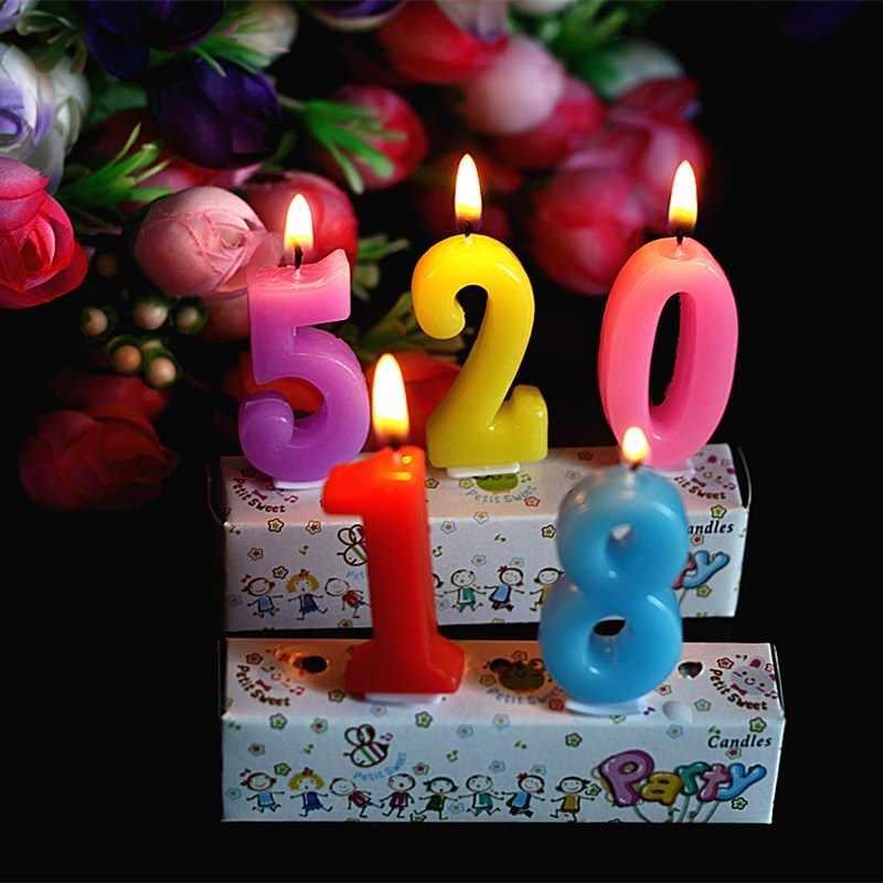 1 pcs Bebê dom fontes do partido vela digital De Aniversário surpresa criativa vela feliz aniversário
